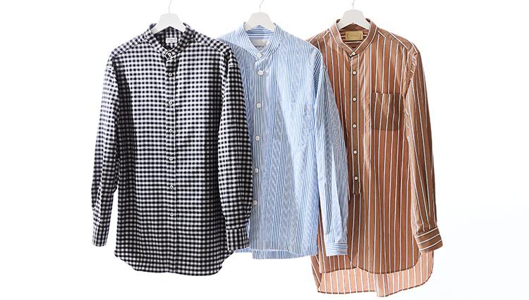 シャツ1枚でお洒落になれる「柄入りバンドカラー」【秋の服50選】