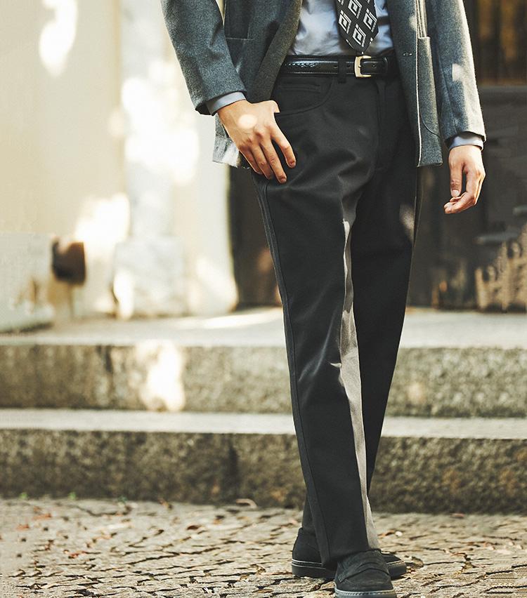 ベルナール ザンスの5ポケットパンツ 着用イメージ