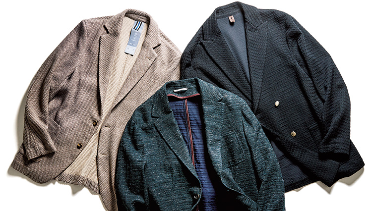 ニットジャケットを選ぶときは「裏貼り」を確認しよう