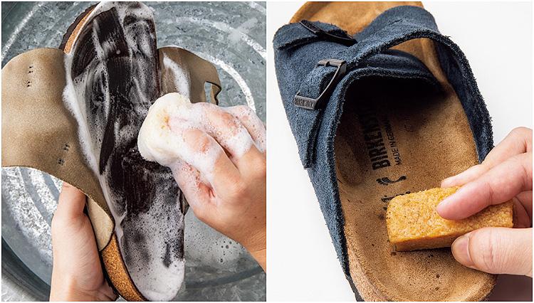 サンダルの脂汚れはどう落とす? 年に一度は丸洗いをしよう!