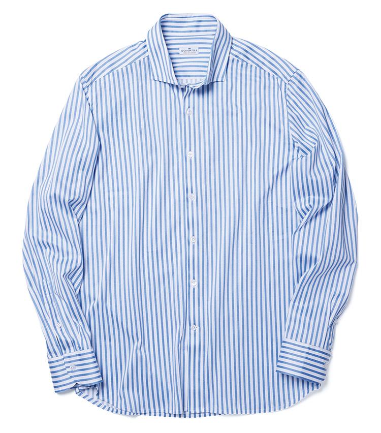 """シャツも""""編み地""""で安らぐ_形はあくまでドレスシャツ"""