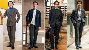 「ダブルブレストのスーツ」をお洒落のプロ4人はこう着こなす