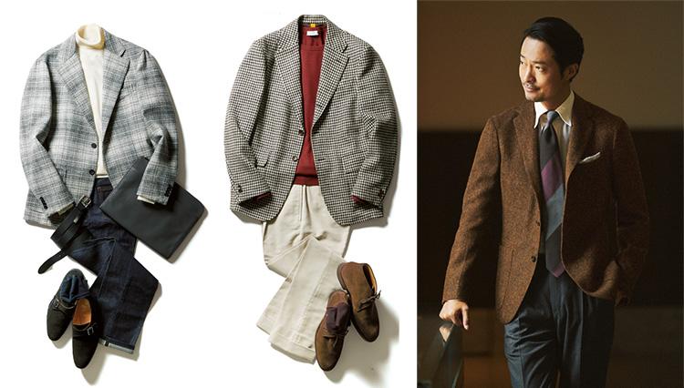 秋らしい「ツイードジャケット」の着こなしに挑戦!