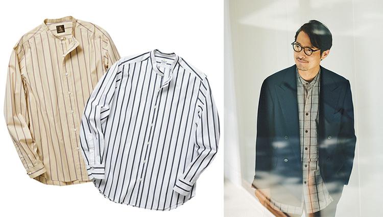 ネクタイしないなら、シャツは「バンドカラー」を選べばお洒落にまとまる