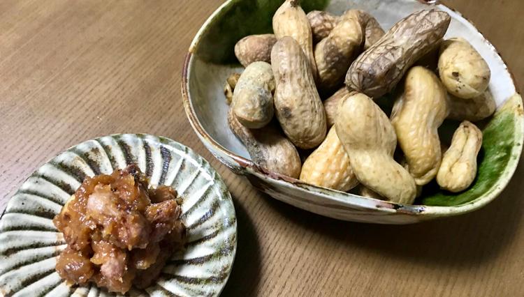 日本酒に、ビールに!旬食材で家呑みおつまみ「生落花生で2品」